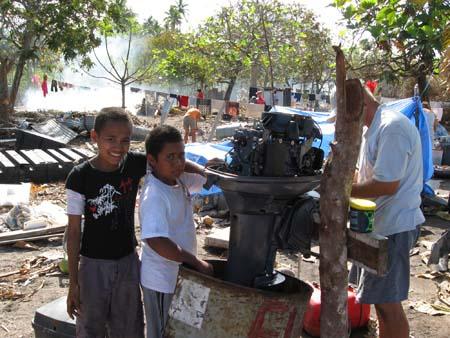 14 Outboard bracket repair being fitted.jpg