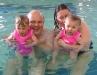 Fiona and Sam swimming